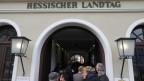 Wahltag in Wiesbaden: Hessischer Landtag.