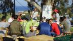Durch das Engagement vieler Menschen sind verschiedene Projekte im unserem Community Center auf Lesbos entstanden. Unterricht unter Olivenbäumen.