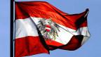 Die Fahne von Österreich.