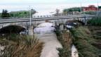 Der angeschwollene Fluss Milicia in der Nähe von Palermo. Hier kamen am Wochenende neun Menschen ums Leben.