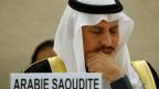 Der Präsident der Menschenrechtskommission von Saudi-Arabien, Bandar al Aiban vor dem Menschenrechtsrat der Vereinten Nationen.
