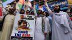 Islamististen demonstrieren wegen des Freispruchs von Asia Bibi.