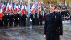 Emmanuel Macron warnt an der Weltkriegs-Gedenkfeier in Paris vor einem neuen Nationalismus.
