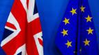 Die Fahnen von Grossbritannien und der EU.