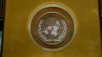 Das Emblem des Uno-Sicherheitsrates im Hauptquartier in den USA.