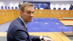 Alexei Navalny wartet am 15. November 2018 auf das Urteil des Europäischen Gerichtshofs für Menschenrechte in Strassburg, Frankreich.