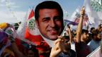 Proteste gegen die Inhaftierung des kurdischen Präsidentschaftskandidaten Selahattin Demirtas in Ankara im Juni 2018.