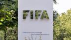 Logo der Fifa am Hauptsitz in Zürich.