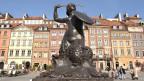 Die Statue der Meerjungfrau in der Altstadt von Warschau.