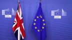 Die britische und die EU-Flagge am 21. November 2018 am EU-Sitz in Brüssel.