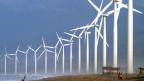 Windkraftwerke in den Philippinen.