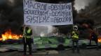 Proteste gegen die Erhöhung der Benzinpreise in Paris.