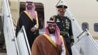 Der saudi-arabische Kronprinz Mohammed bin Salman am 28. November 2018 am Flughafen in Buenos Aires, Argentinien.