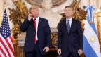 US-Präsident Donald Trump und Argentiniens Präsident Mauricio Macri vor dem G20-Gipfel in Buenos Aires am 30. November 2018.