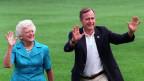 George H. W. Bush und seine Frau Barbara.