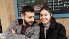 Sona Ghazarian mit ihrem Ehemann Davit im Café «The Coast» in Eriwan.