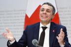 Aussenminister Ignazio Cassis vor den Medien