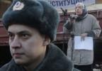 Alexejewa bei einer Demonstration 2011