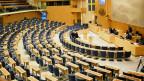 Das schwedische Parlament.