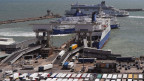 Der Hafen in Dover, England.