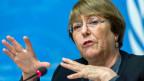 Michelle Bachelet, Hochkommissarin der Vereinten Nationen für Menschenrechte.