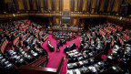 Der italienische Ministerpräsident Giuseppe im italienischen Senat.