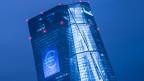 Die Fassade der Europäischen Zentralbank.