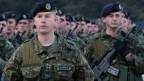 Mitglieder der kosovarischen Sicherheitstruppe.