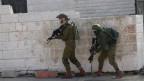 Israelische Soldaten in der Stadt Ramallah im Westjordanland.