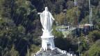 Die Muttergottes in Santiago, die auf dem Hausberg San Cristobal ihre Arme ausbreitet.