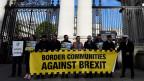 Proteste gegen den Brexit in Dublin.
