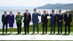 Die  G7-Teilnehmer in Charlevoix in Kanada im Juni 2018.
