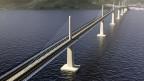 China errichtet in Kroatien die grösste Brücke des Landes.