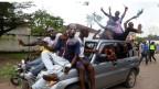 Unterstützer von Felix Tshisekedi jubeln in den Strassen von Kinshasa, Kongo, am 10. Januar 2019.