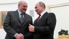 Der russische Präsident Wladimir Putin (rechts) und sein belarussischer Amtskollege Alexander Lukaschenko an einem Treffen in Moskau. 29. Dezember 2018.