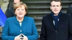 Angela Merkel und Emanuel Macron in Aachen.