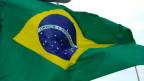 Symbolbild Fahne von Brasilien.