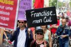 Demo gegen hohe Krankenkassenprämien in Genf