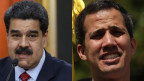 Nicolas Maduro (links) und Juan Guaido, Venezuela.