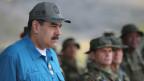 Der venezolanische Präsident Nicolas Maduro während einer Veranstaltung mit Angehörigen des Militärs in Turiamo, Venezuela, am 3. Februar 2019.