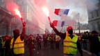 Leute demonstrieren in Frankreich.