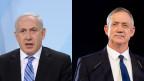Benjamin Netanjahu, Premierminister Israel (links) und Benny Gantz, früherer Generalstabschef.