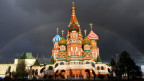 Die St. Basil Kathedrale in Moskau.
