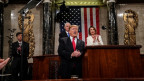 Donald Trump bei seiner State of the Union-Rede im Capitol in Washington.
