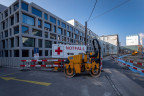 Baustelle vor dem Universitätsspital Basel