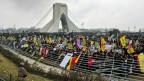 Zeremonie zur Feier des 40. Jahrestages der Islamischen Revolution beim Azadi-Freiheits-Turm in Teheran.