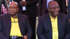 Jacob Zuma (links) und Cyril Ramaphosa, Präsident Südafrika.
