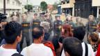 Venezolanische Nationalgardisten in Urena, an der Grenze von Venezuela und Kolumbien.