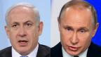 Benjamin Netanjahu, Premierminister Israel (links) und Wladimir Putin, Präsident Russland.