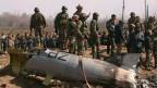 Indische Soldaten stürzten am 27. Februar 2019 im Bezirk Budgam in Kaschmir ab.